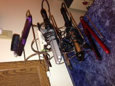 Flat Iron/ Curling iron storage-- other uses for a Wine Rack
