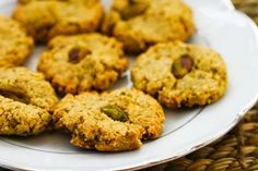 Recipe for Flourless, Sugar-Free Pistachio Cookies; this is one of the first sugar-free cookies I made and now I get great results making it with Stevia-in-the-Raw Granulated Sweetener (not sponsored, I just love that product.) [from Kalyn's Kitchen] #LowSugarChristmasCookies