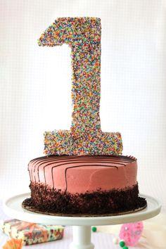DIY: number cake topper