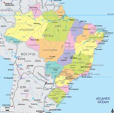 BRASIL Map.