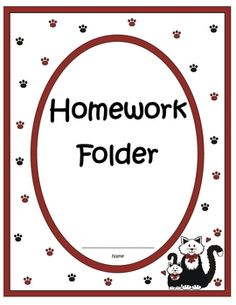 Fern Smith's Elementary Work Folders / Daily Folders Covers ~ Adorable Cat / Kitten Theme!