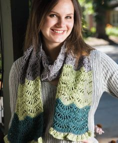 Just love this pretty scarf, and who would have though it's so easy to make. Free pattern.