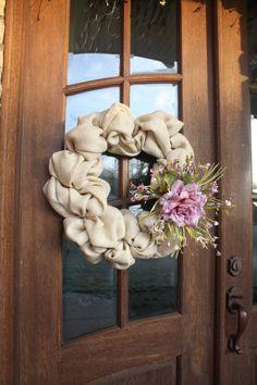 Burlap Door Wreath