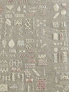 embroidery sampler - photo by sixelarium