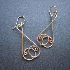 wire earrings, bead, wire jewelri, wire wrap, jewelri idea, craft idea, inspir, scale earring, diy