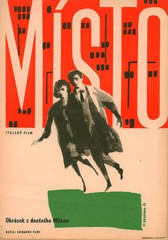 1962 Czech poster for IL POSTO (Ermanno Olmi, Italy, 1961)  Designer: Jaroslav Zelenka (1921-1973)  Poster source: Terry Posters