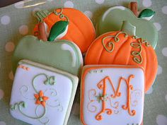 fall wedding shower. Had to pin this simply because it has our first initials on it.