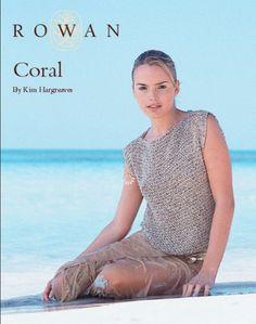 Coral Summer Top in Rowan Summer Tweed