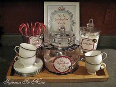 Make your own hot chocolate station (recipe for hot chocolate included) #organizedchristmas