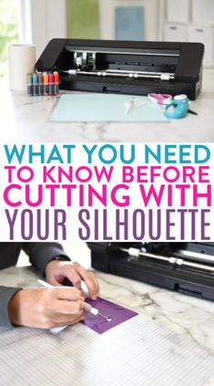 Are you ready to get crafting with your Silhouette  machine? It's easy to use and so versatile. There are a few tips and  tricks to cutting with it though, so we're going to tell you what you need to  know before cutting with your Silhouette. #silhouette #silhouettecameo #diecutting #diecuttingmachine  #silhouettemachine #diysilhouette #silhouetteideas #cutfiles #svgfiles  #diecutfiles #diysilhouetteprojects #silhouetteprojects #silhouettecraftideas  #diysilhouetteideas