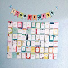 Summer bucket list wall