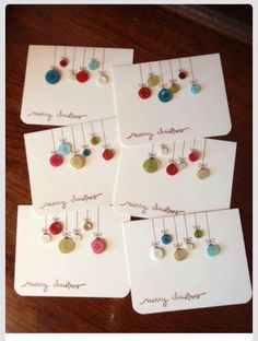 DIY Christmas Cards from buttons - cute idea for tags, and teacher's cards!