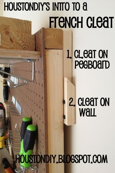 peg board. we use this in our garage as well as in my sewing corner!