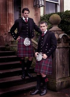 Two kilted men