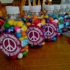 Peace sign birthday favors!