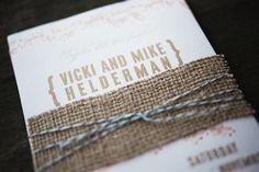 Rustic Wedding Invitation Sample by annemadisondesign on Etsy