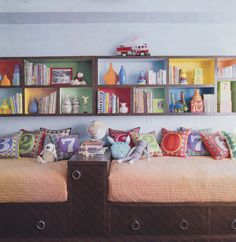 Number pillows - so cute for a playroom