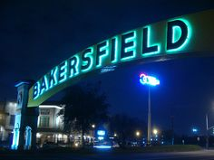 The famous Bakersfield sign @ the Crystal Palace.