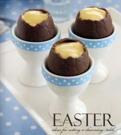 Chocolate Custard Easter Eggs