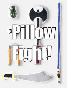 Some of these would be great play therapy things. boy gifts, cool pillow ideas, fighting memes, christmas presents, boy pillow, future kids, pillow fight, cool stuff, christmas gifts
