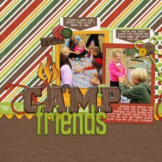 summer scrapbook idea | don't forget to snap photos of (& then scrapbook) activities at camp