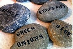 Stone garden markers (Photo by Carey Powell)