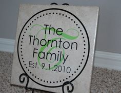 12 x 12 Circle of Dots Family Established Tile by StyleMarkDesigns, $24.95