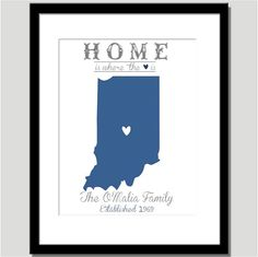 Home is Where the Heart is  Can do any city in by CoCoStineDesigns, $15.00