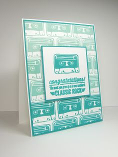 nice people STAMP!: UNDEFINED Stamp Carving - Retro Cassette Tape Goes Ombre!  #StampinUp #Undefined