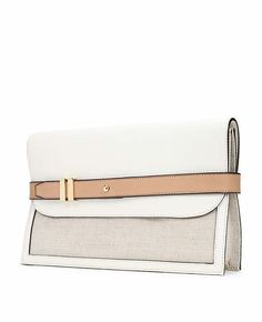 Shimmer Canvas Belted Clutch