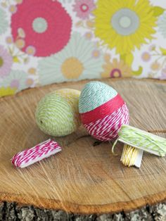 Weekday Crafternoon: Baker's Twine-Wrapped Easter Eggs