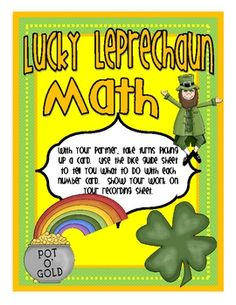 FREE from Rachael Parlett on TpT. Use this quick and easy-to-prepare math game on St. Patrick's Day to help students practice multi-step math problems.  Students choose a digit card...