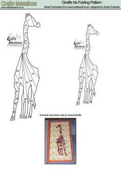 Giraffe Iris Folding Pattern