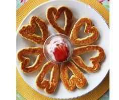Turn your regular store-bought biscuits into heart biscuits... great for Mother's Day, Father's Day, Valentine's Day, or any day!  Great to make with kids!