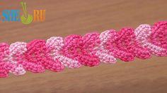 Crochet Braid Lace Ribbon Tutorial 30 Single Crochet Stitches http ...
