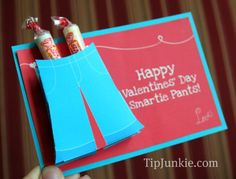 Cute Valentines Cards for kids, Smarties, Smarty Pants