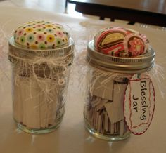 Blessings jars (fill with scriptures)- a simple way to bring joy everyday
