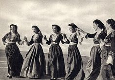 "Greek Postcard, c1956 (by alsis35)    ""Crete Girls Dancing."""