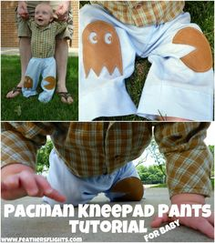 Feather's Flights {a creative, sewing blog}: Pacman Knee Pad Pants For Baby Tutorial