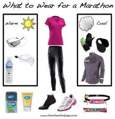 Suggestions for clothing and gear to get through your first long race. #running #marathon
