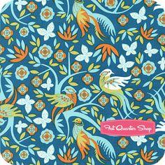 Imperial Pheasant Blue Garden Yardage SKU# PWEG013-BLUEX - Fat Quarter Shop