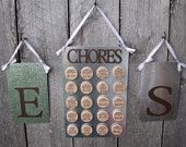 cute way to organize chores for kids!
