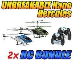 Nano Hercules and Camo Nano Hercules Unbreakable 3.5CH IR RC Helicopter Bundle