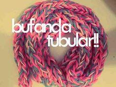 DIY♥ BUFANDA TUBULAR CON LOS DEDOS / TUBULAR SCARF WITH FINGERS - YouTube