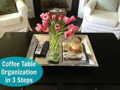 everyday table centerpieces for home | Coffee Table Decor  Organization