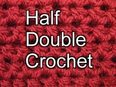 Beginner Crochet Stitches 4 - Half Double Crochet - Slow Motion
