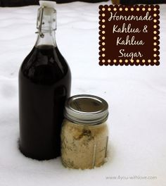 4 You With Love: Homemade Kahlua & Kahlua Sugar