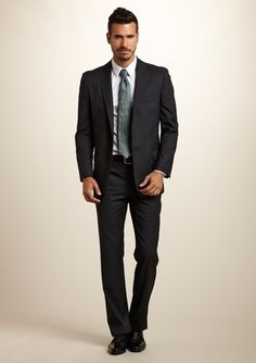 YVES SAINT LAURENT Two-Toned Striped Classic Fit Suit $599.99...