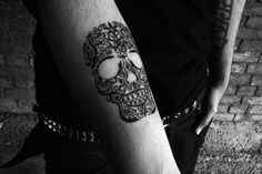 in love with skull tattoos