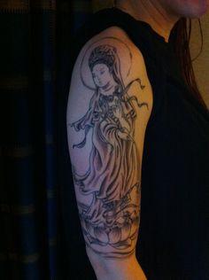 My Kwan Yin tattoo so far